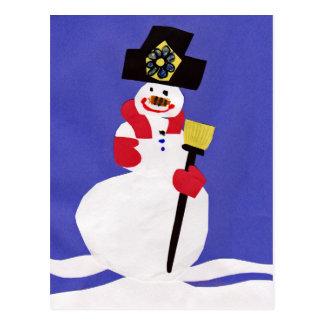 Postal Muñeco de nieve por VictoriaShaylee