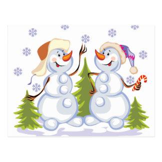 Postal Muñecos de nieve
