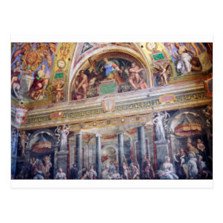 Postal Mural en el museo de Vatican