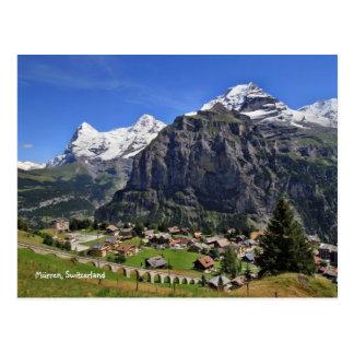 Postal Mürren, Suiza - Schweiz