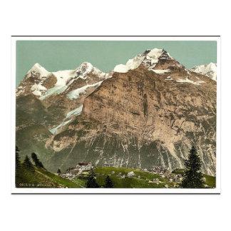 Postal Murren, visión general, Bernese Oberland,