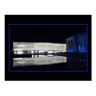 Postal Museo de arte de Nelson-Atkins del azul real