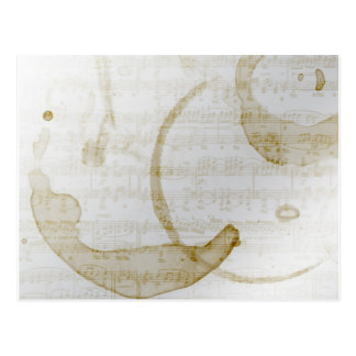 Postal música de la mancha del café