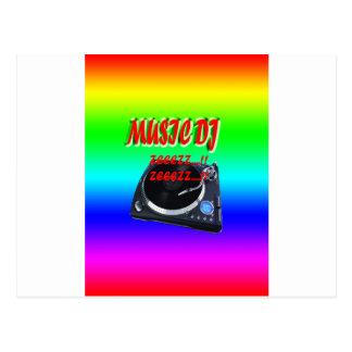 Postal Música DJ con el fondo
