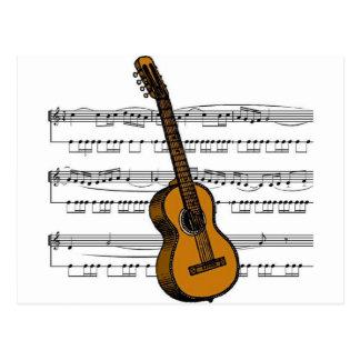 Postal Musical 07 B de la guitarra acústica
