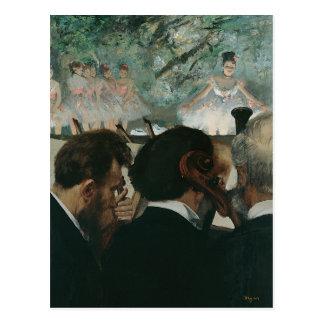 Postal Músicos de la orquesta de Edgar Degas el  