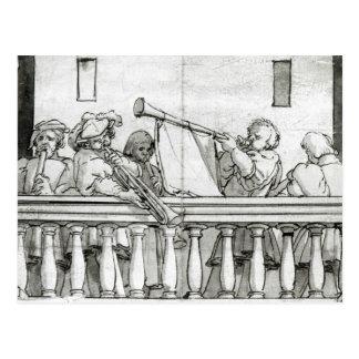 Postal Músicos del Enrique VIII