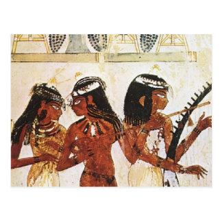 Postal Músicos egipcios de las mujeres