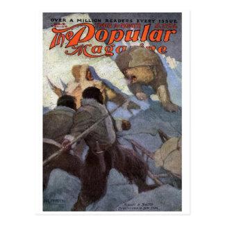 Postal N.C. Wyeth - portada de revista poste popular de