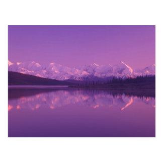 Postal NA, los E.E.U.U., Alaska, Denali NP, lago wonder,