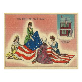 Postal Nacimiento de nuestra bandera