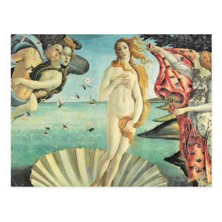 Postal Nacimiento de Sandro Botticelli de Venus