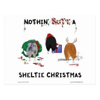 Postal Nada empalma el navidad de un Sheltie