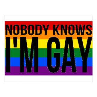 Postal Nadie sabe que soy gay