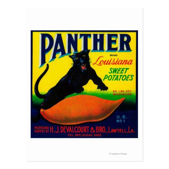 Postal Ñame LabelLawtell, LA de la pantera