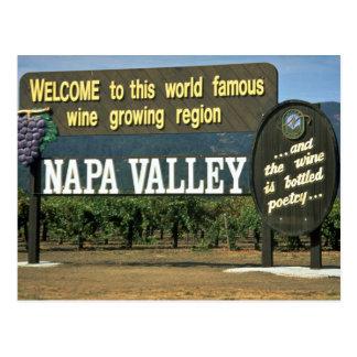 Postal Napa Valley, California, los E.E.U.U.