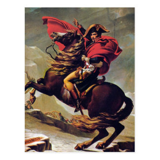 Postal Napoleon que cruza el St Bernard