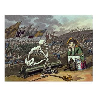 Postal Napoleon y esqueleto, décimo octavo