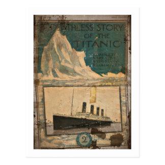 Postal Narrativa ilustrada titánica del RMS