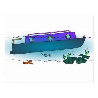 Postal Narrowboat hundido