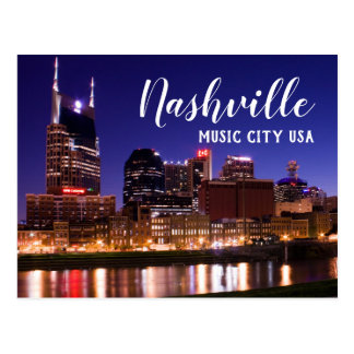 Postal Nashville --- Ciudad los E.E.U.U. de la música
