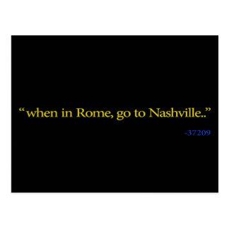 Postal Nashville, TN cuando en Roma