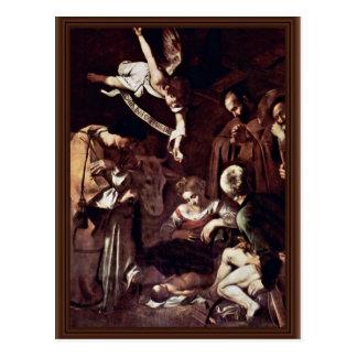 Postal Natividad con St. Lorenzo y St Francis por Mich