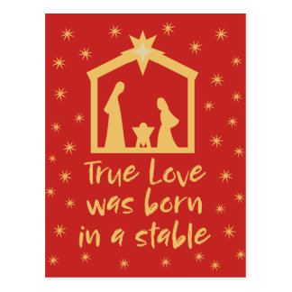Postal Natividad cristiana Jesús del navidad religioso