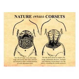 Postal Naturaleza contra los corsés