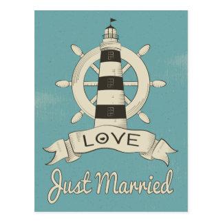 Postal Náutico apenas casado casando el trullo del azul