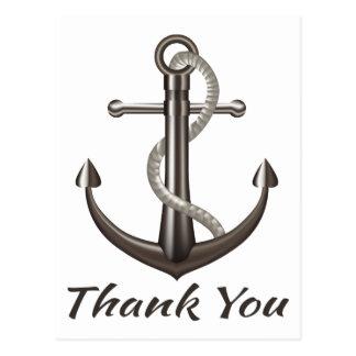 Postal Náutico gracias enviar el boda del marinero del