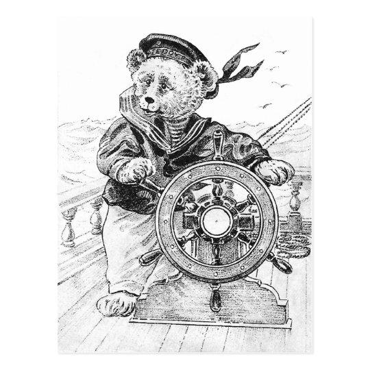 Postal Nave de la dirección de Sam del oso del marinero