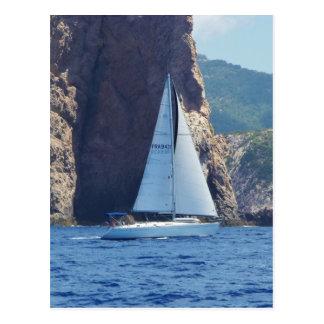 Postal Navegación a lo largo de la costa de Cerdeña