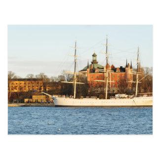 Postal Navegando en Estocolmo, Suecia