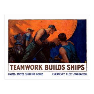 Postal Naves de las estructuras del trabajo en equipo