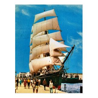 Postal Naves históricas del vintage, estrella de la