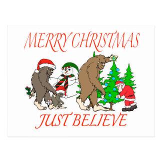 Postal Navidad 2 de la familia de Bigfoot