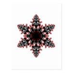 Postal Navidad afiligranado o Yule del copo de nieve del