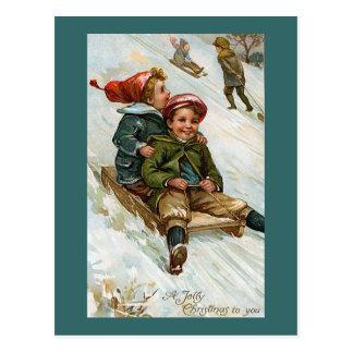 "Postal ""Navidad alegre a usted """