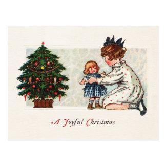 Postal Navidad alegre - vintage