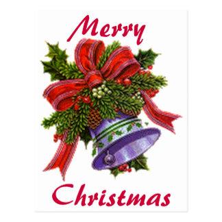 Postal Navidad Bell de plata