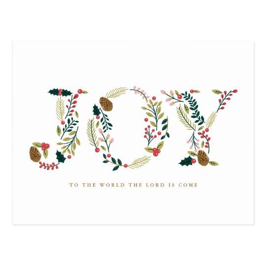 Postal Navidad botánico de la alegría que saluda