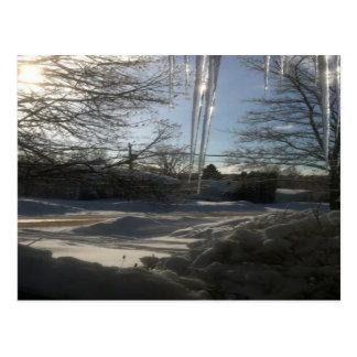 Postal Navidad canadiense de la escena de la nieve