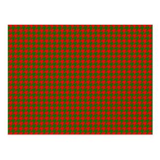 Postal Navidad clásico rojo y control verde de