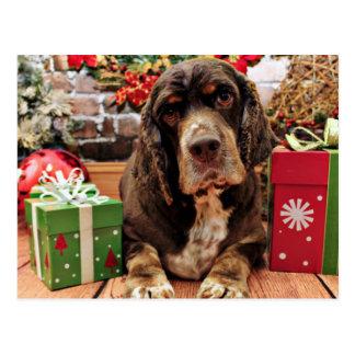 Postal Navidad - cocker spaniel - Remmy