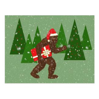 """Postal """"Navidad con Bigfoot"""""""
