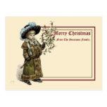 Postal Navidad de Kate Greenaway de la era del Victorian