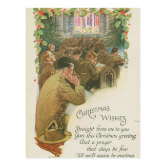 Postal Navidad de la guerra mundial del vintage