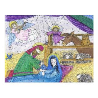 Postal Navidad de la natividad