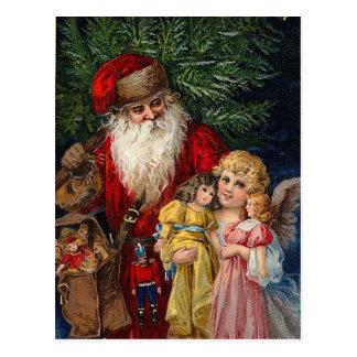 Postal Navidad de las muñecas del Victorian del ángel de